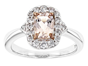 Pink Morganite Sterling Silver Ring 1.13ctw
