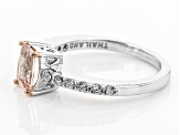 Pink Morganite Sterling Silver Ring 1.02ctw