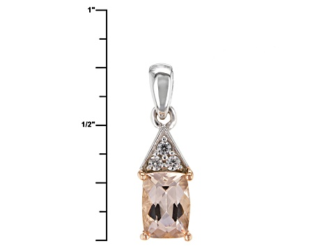 Pink Morganite Sterling Silver Pendant With Chain .73ctw