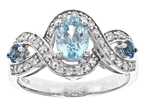 London Blue Zircon Sterling Silver Ring 1.51ctw