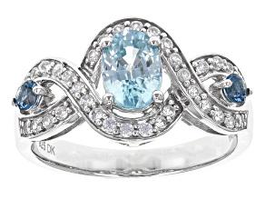 London Blue Zircon Sterling Silver Ring 1.51ctw