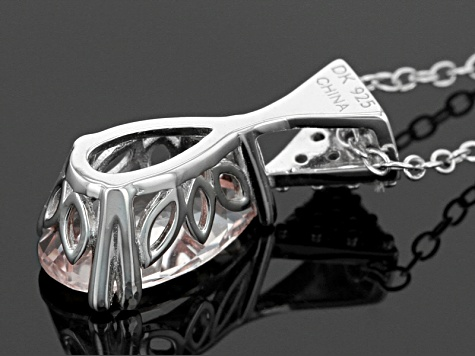 Pink Morganite Sterling Silver Pendant With Chain 1.35ctw