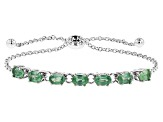 Green Kyanite Sterling Silver Sliding Adjustable Bracelet 2.98ctw