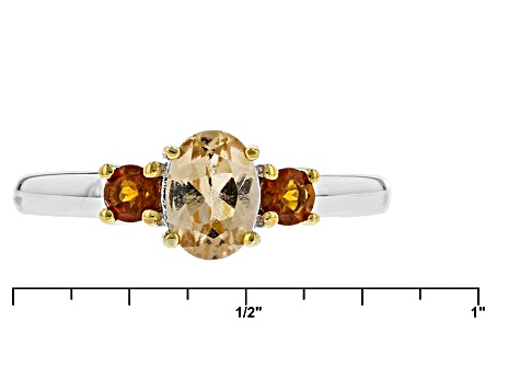 Golden Hessonite Sterling Silver Ring 1.10ctw