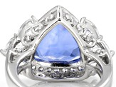 Color Change Blue Fluorite Sterling Silver Ring 6.39ctw