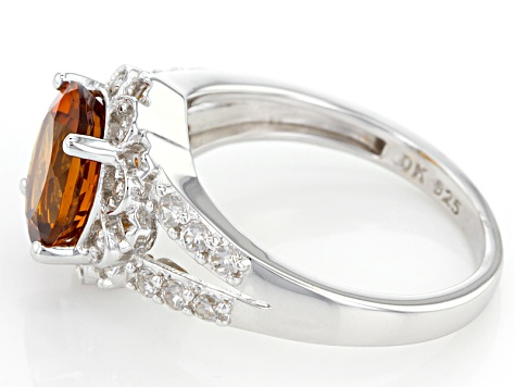 Orange Citrine Sterling Silver Ring 2.51ctw