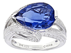 Blue Color Change Fluorite Sterling Silver Ring 4.98ctw