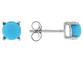 Blue Sleeping Beauty Turquoise Sterling Silver Stud Earrings