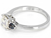 White Lab Created Fabulite Strontium Titanate Rhodium Over Sterling Silver Ring 1.94ctw