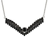 Black Spinel Sterling Silver Necklace 5.39ctw