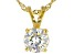 Fabulite Strontium Titanate 18k Gold Over Silver Pendant With Chain 3.00ct