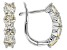 White Fabulite Strontium Titanate Rhodium Over Sterling Silver Hoop Earrings 2.80ctw