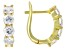 White Fabulite Strontium Titanate 18k Yellow Gold Over Sterling Silver Earrings 2.80ctw