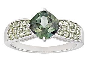 Emerald Envy™ Mystic Topaz® Rhodium Over Silver Ring 1.95ctw