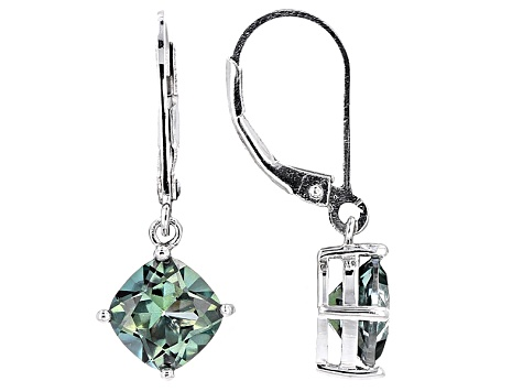 Emerald Envy™ Mystic Topaz® Rhodium Over Silver Earrings 3.06ctw