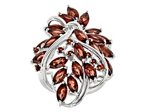 Red Garnet Sterling Silver Ring 5.62ctw