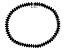 Black Spinel Sterling Silver Tennis Bracelet 9.10ctw