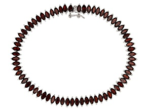 Red Garnet Sterling Silver Tennis Bracelet 9.10ctw
