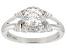 White Fabulite Strontium Titanate And White Zircon Sterling Silver Ring 1.37ctw