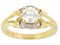 Fabulite Strontium Titanate And White Zircon 18k gold over sterling silver ring 1.37ctw