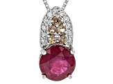 Mahaleo Ruby Sterling Silver Pendant With Chain 2.66ctw