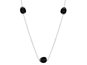 Black Spinel Sterling Silver Necklace 49.79ctw