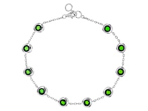 Green Russian Chrome Diopside Sterling Silver Bracelet 5.00ctw