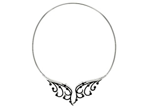 Black Spinel Sterling Silver Collar Necklace 18.69ctw