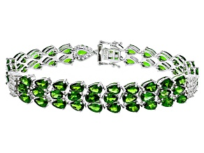 Green Chrome Diopside Sterling Silver Bracelet 23.04ctw