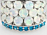 Multi Color Ethiopian Opal Sterling Silver Ring 2.42ctw.