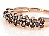 Red Diamond 10K Rose Gold Ring 0.50ctw