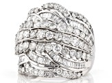 White Diamond 10k White Gold Ring 3.00ctw