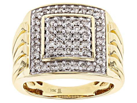 Candlelight Diamonds 10k Yellow Gold Mens Ring 1 00ctw Udg012