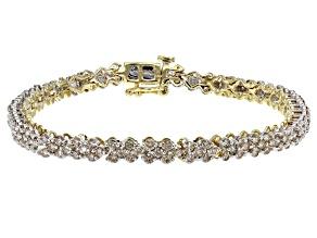 Diamond 10k Yellow Gold Bracelet 3.00ctw