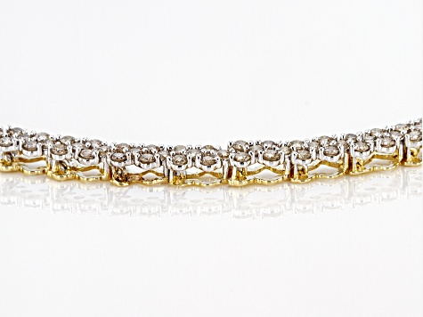 Diamond 10k Yellow Gold Bracelet 3.00ctw
