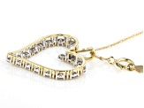 Candlelight Diamond™ 10k Yellow Gold Pendant 1.00ctw