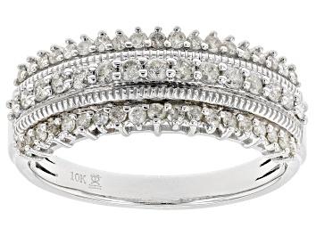 Picture of White Diamond 10k White Gold Ring 0.50ctw