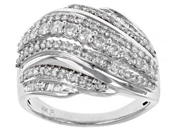 Picture of White Diamond 10k White Gold Ring 1.00ctw