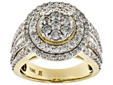Diamond 10k Yellow Gold Ring 2.00ctw