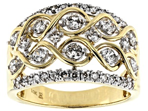 Candlelight Diamonds™ 10k Yellow Gold Ring 1.00ctw