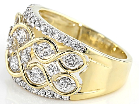 Candlelight Diamonds™ 10k Yellow Gold Dome Ring 1.00ctw