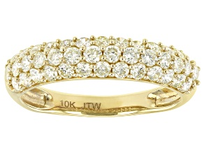 Natural Yellow Diamond 10K Yellow Gold Ring 1.00ctw