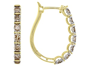 Candlelight Diamonds™ 10k Yellow Gold Earrings 1.00ctw