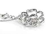 White Diamond 10K White Gold Pendant 0.50ctw