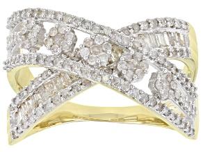 White Diamond 10K Yellow Gold 1.00ctw