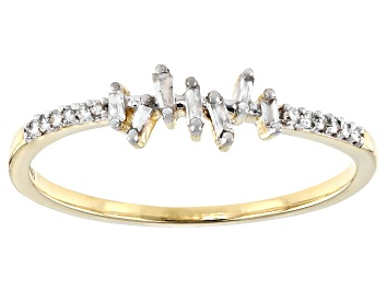 Picture of White Diamond 10K Yellow Gold Band Ring 0.10ctw