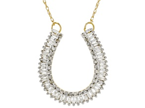 White Diamond 10K Yellow Gold Necklace 0.50ctw