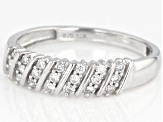 White Diamond 10K White Gold Band Ring 0.20ctw