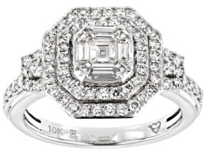 Nikki's 2019 Holiday Collection White Diamond 10k White Gold Ring 1.00ctw