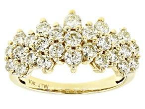 Natural Yellow Diamond 10K Yellow Gold Ring 1.50ctw